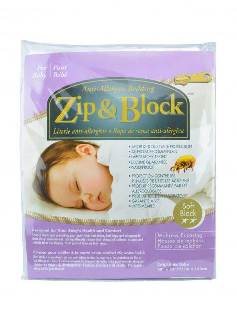 Zip Amp Block Waterproof Crib Mattress Encasement