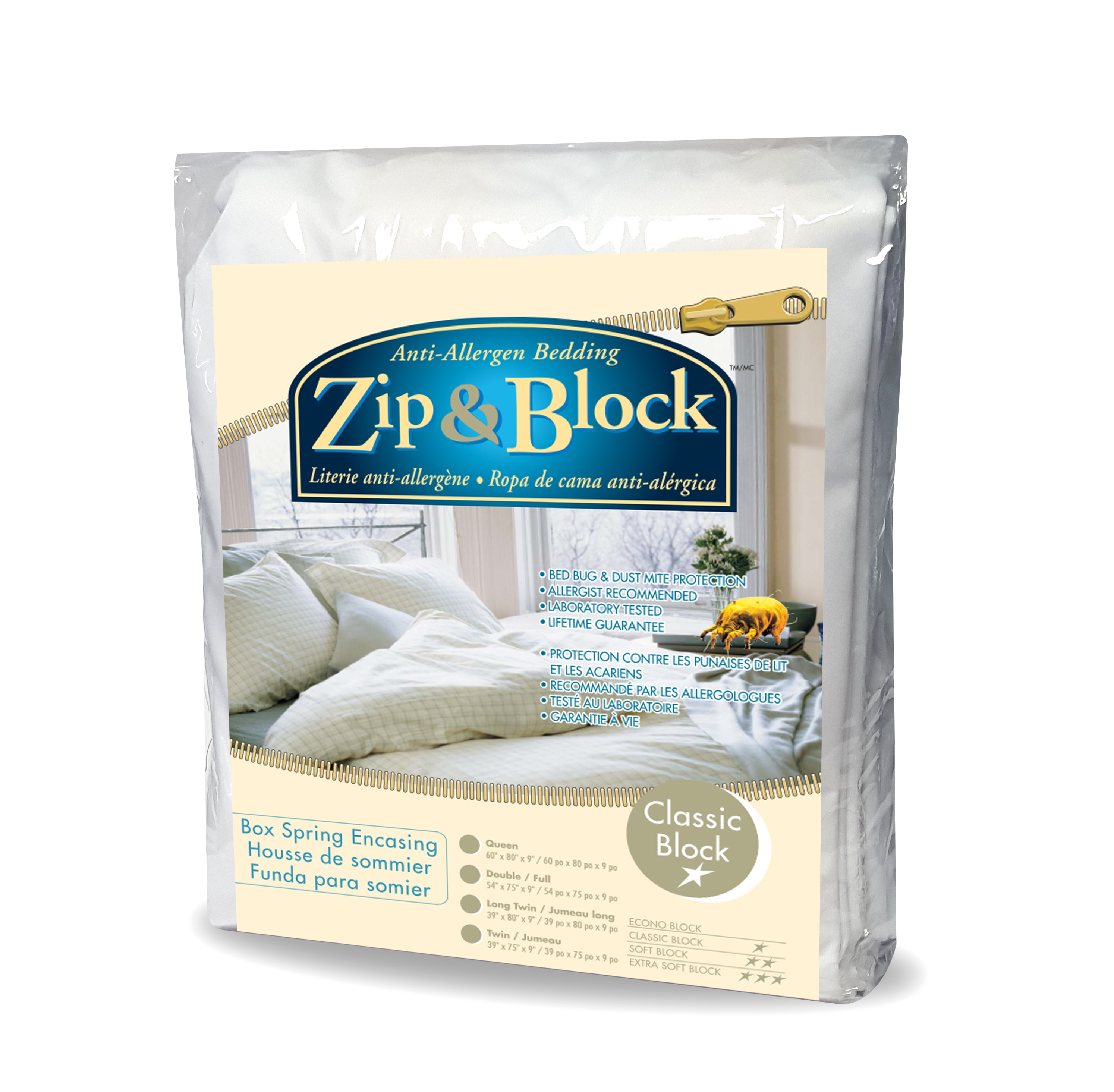 Zip And Block Econo Block Waterproof Box Spring Encasing
